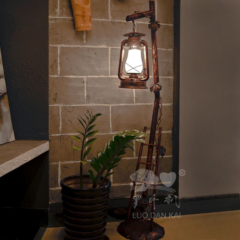 Luodan kai chinese vintage wrought iron lantern floor lamp bedroom chinese iron horse retro bedroom floor lamp lighting living room decor ways lamps can enhance your home mozeypictures Gallery