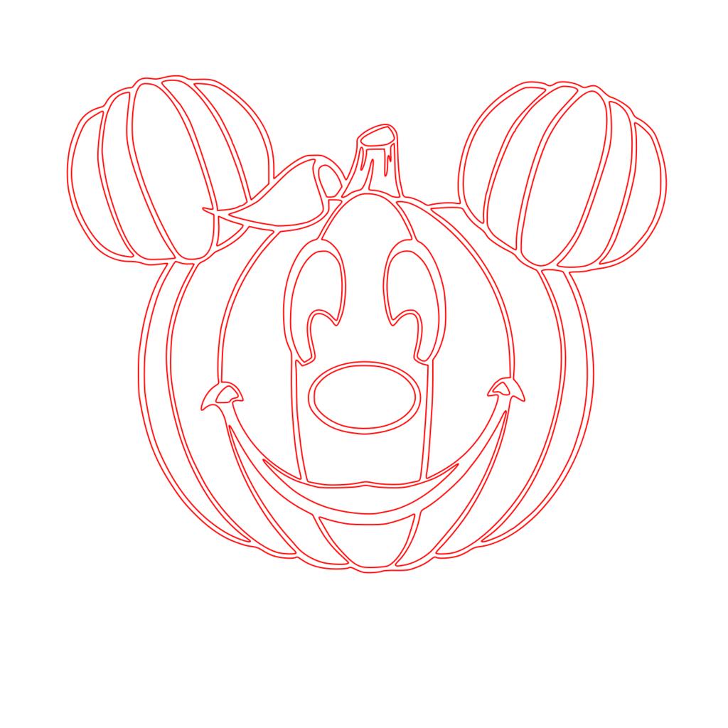 Mickey Halloween Outline.svg Box Mickey halloween