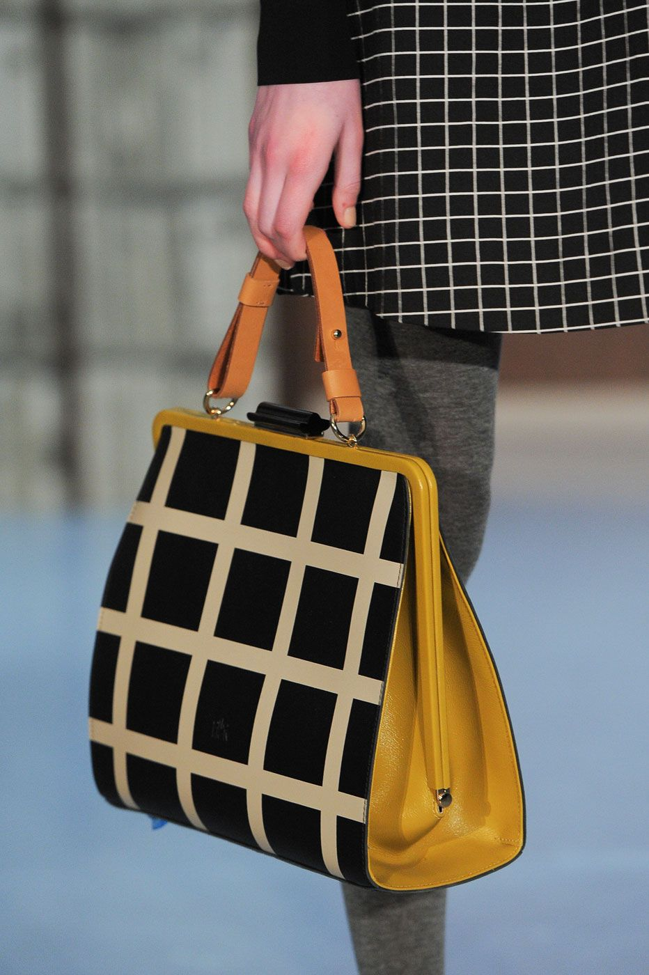 Checkered Top Handle Bag - ELLE.com