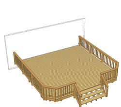2 000 20 X 20 Deck W Wide Stairs And Angled Corners Very Simple Design Again I Would Add Stairs To The Left Deck Projects Deck Renovation Pool Deck Plans
