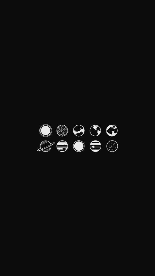 Tiny Planets Phone Wallpaper Black Wallpaper Aesthetic Iphone Wallpaper