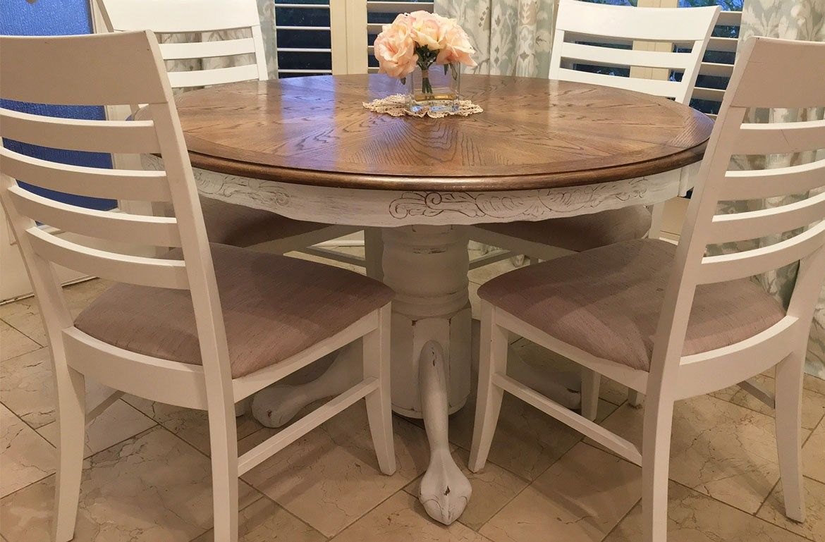Diy French Country Table Transformation From A Common 80 S Craigslist Table Remodelicious French Country Tables Breakfast Table Table #used #living #room #furniture #on #craigslist
