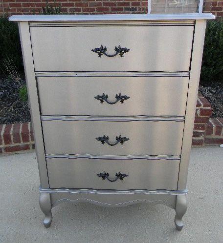Spray Painting Furniture Rustoleum Satin Nickel Spray