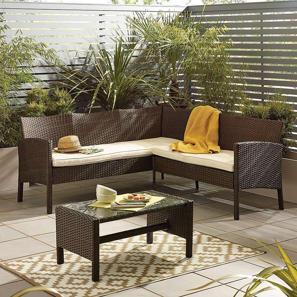 Phenomenal Nevada Brown Rattan Corner Sofa Set Pallet Project Caraccident5 Cool Chair Designs And Ideas Caraccident5Info