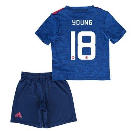 Manchester United Fotballklær Barn 16-17 Ashley Young 18 Bortedraktsett Kortermet   #billige  #fotballdrakter