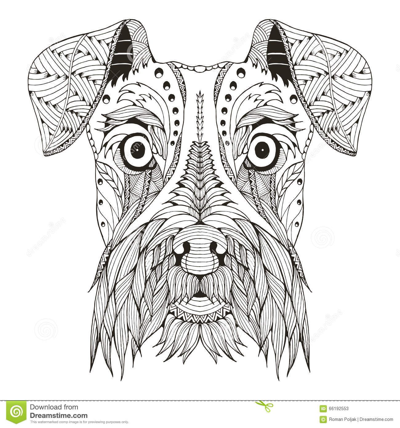 perros zentangle - Buscar con Google | mandala | Pinterest ...