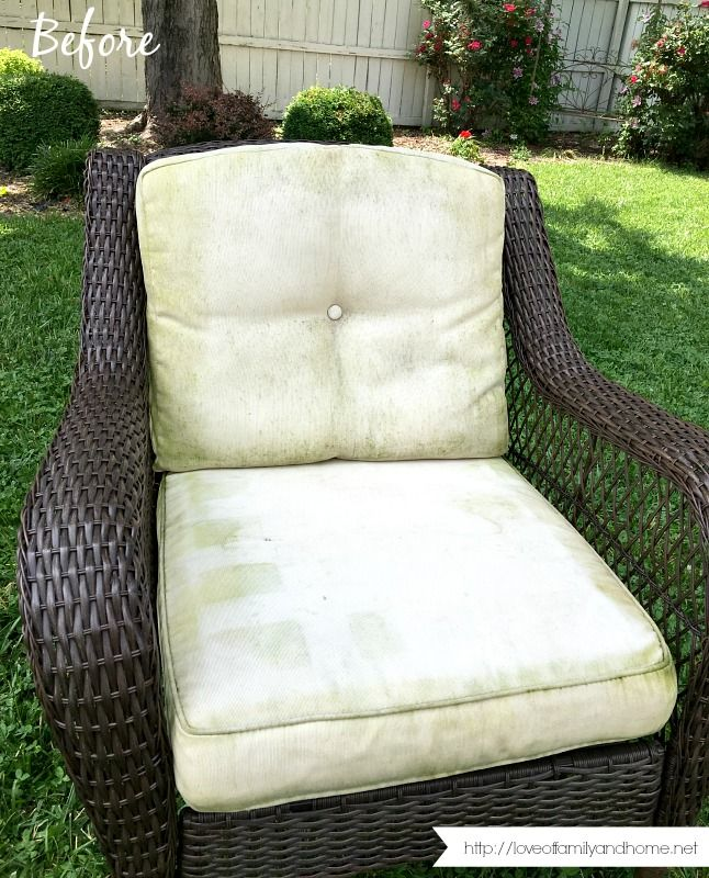 How To Remove Mildew Stains From Outdoor Cushions Love Of Family