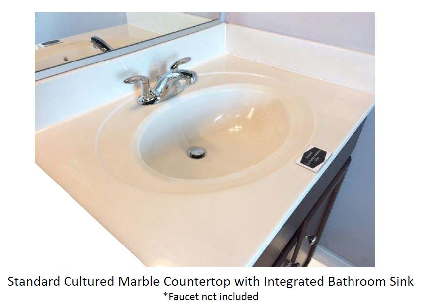 Included Bathroom Counter Cultured Marble With Integrated Sink