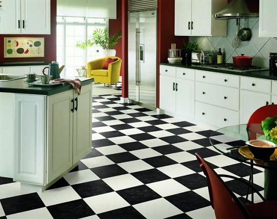 Black And White Vinyl Flooring Kitchen Ideas White Vinyl