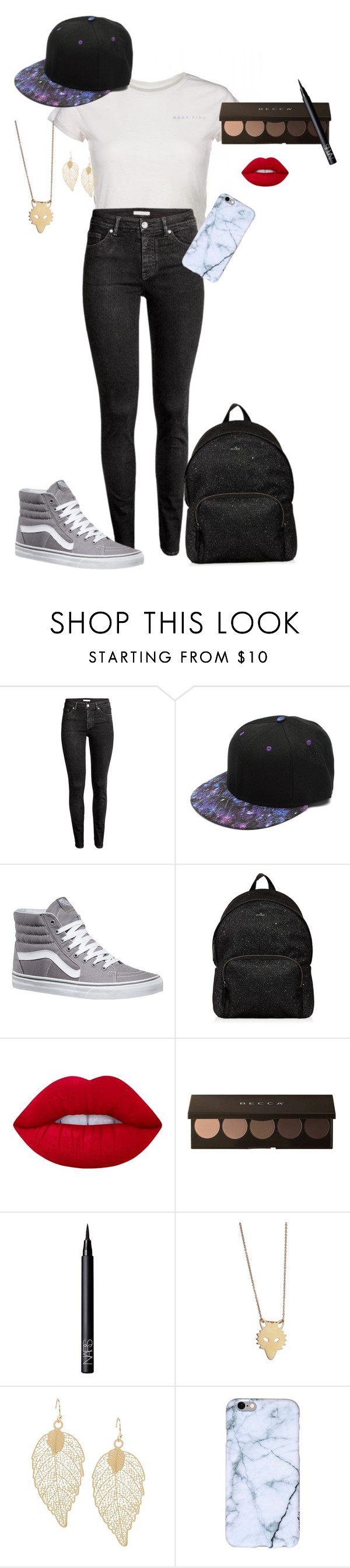 """""""Teenage Style"""" by galaxyy-wolf ❤ liked on Polyvore featuring H&M, Vans, Hogan, Lime Crime, NARS Cosmetics and Ginette NY"""