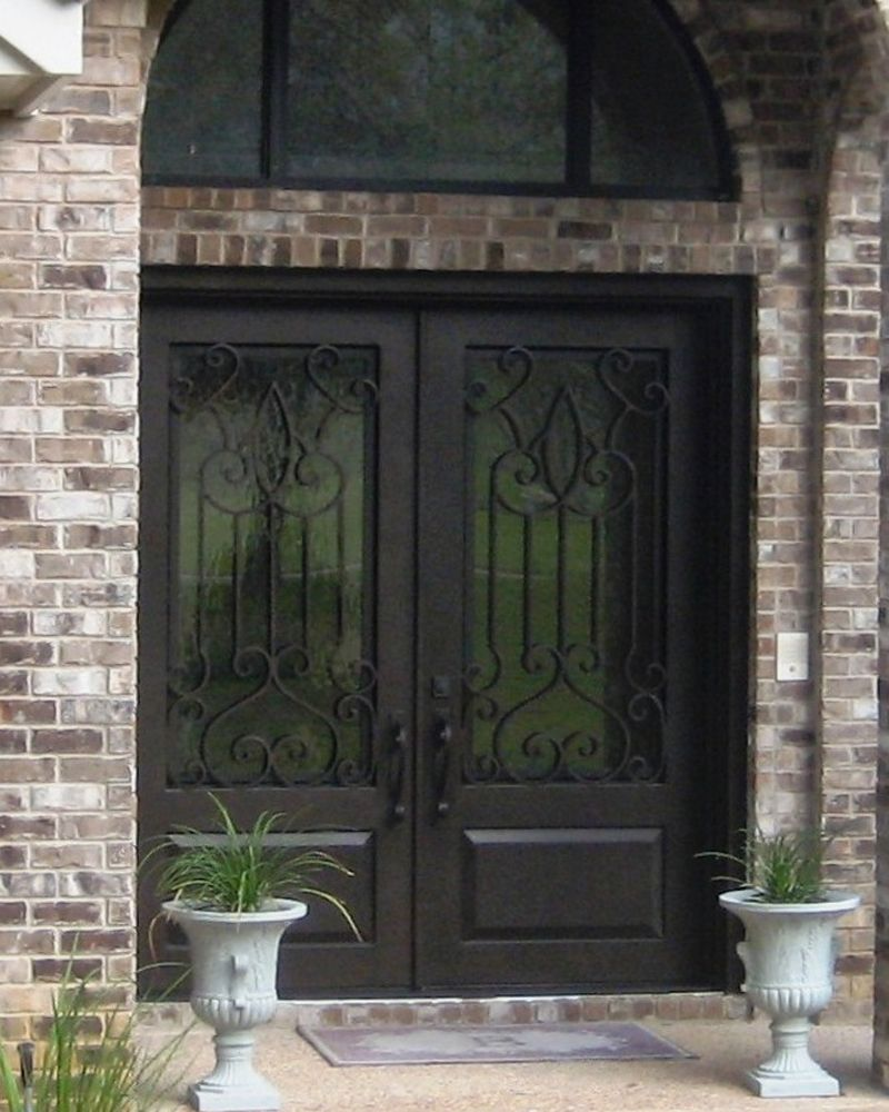 Wrought Iron Door Monterrey Square Top Double With Images