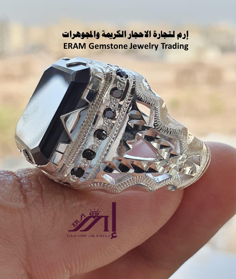 خاتم ملكي 1 امزونايت طبيعي100 Amazonite للعرض Gemstone Jewelry Gemstones Rings For Men