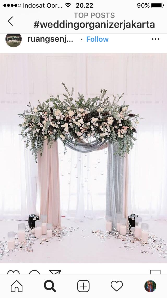 Pin oleh Evay di On budget wedding decoration Dekorasi