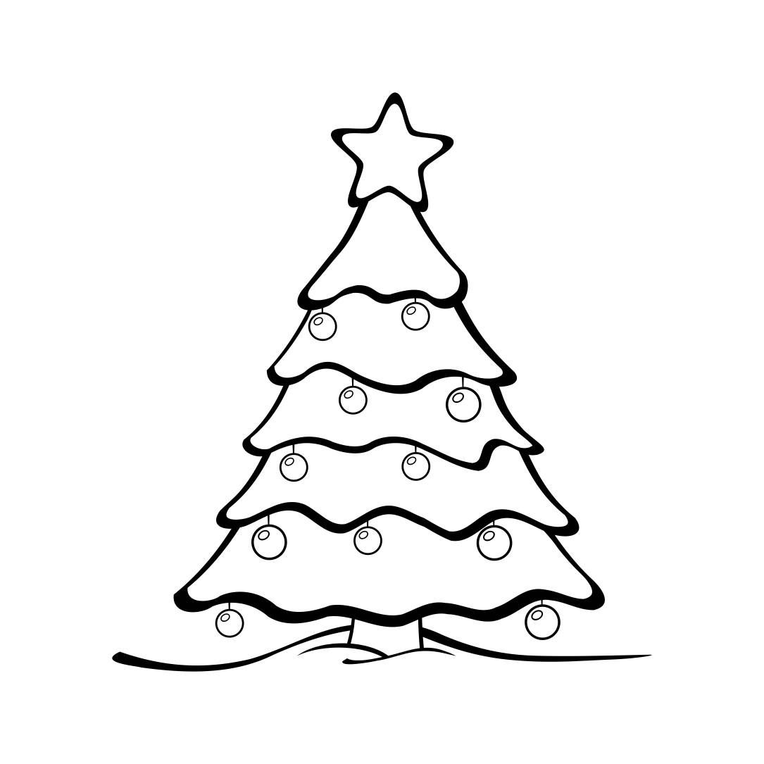 Christmas Tree Graphics SVG Dxf EPS Png Cdr Ai Pdf Vector Art ...