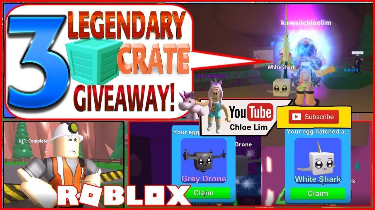 Code New Mining Simulator Game Roblox Mining Simulator Youtube Roblox Mining Simulator Gameplay 32 Codes 3 Legendary Crate Skin Givea Roblox Crates Coding