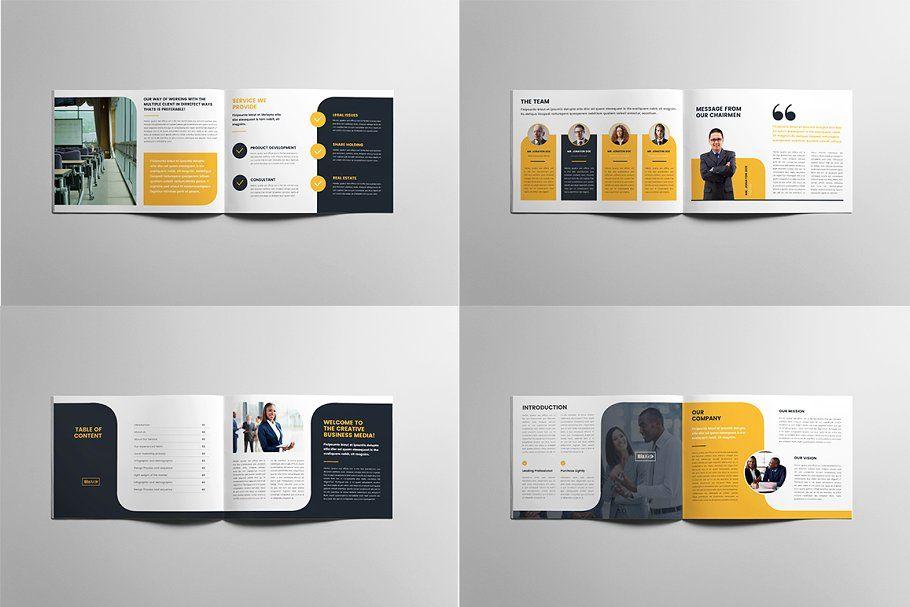 Company Profile Landscape Brochure Design Layouts Company Profile Company Profile Design