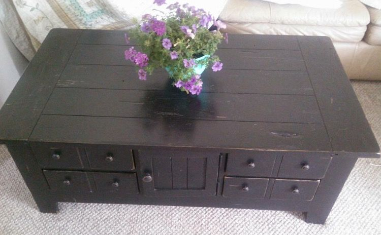 Broyhill Attic Heirlooms Apothecary Coffee Table In Black Stain Broyhill Furniture Decor My Furniture