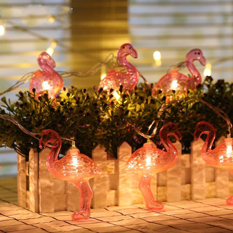 1m 10 Leds Battery Ed Lights Flamingo Pinele