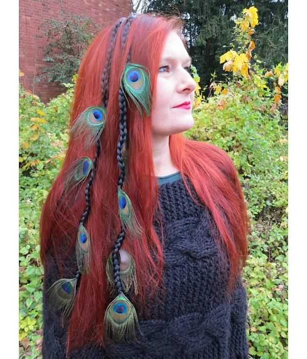 Peacock Feather Extensions 9 Feathers Feather Extensions Tribal