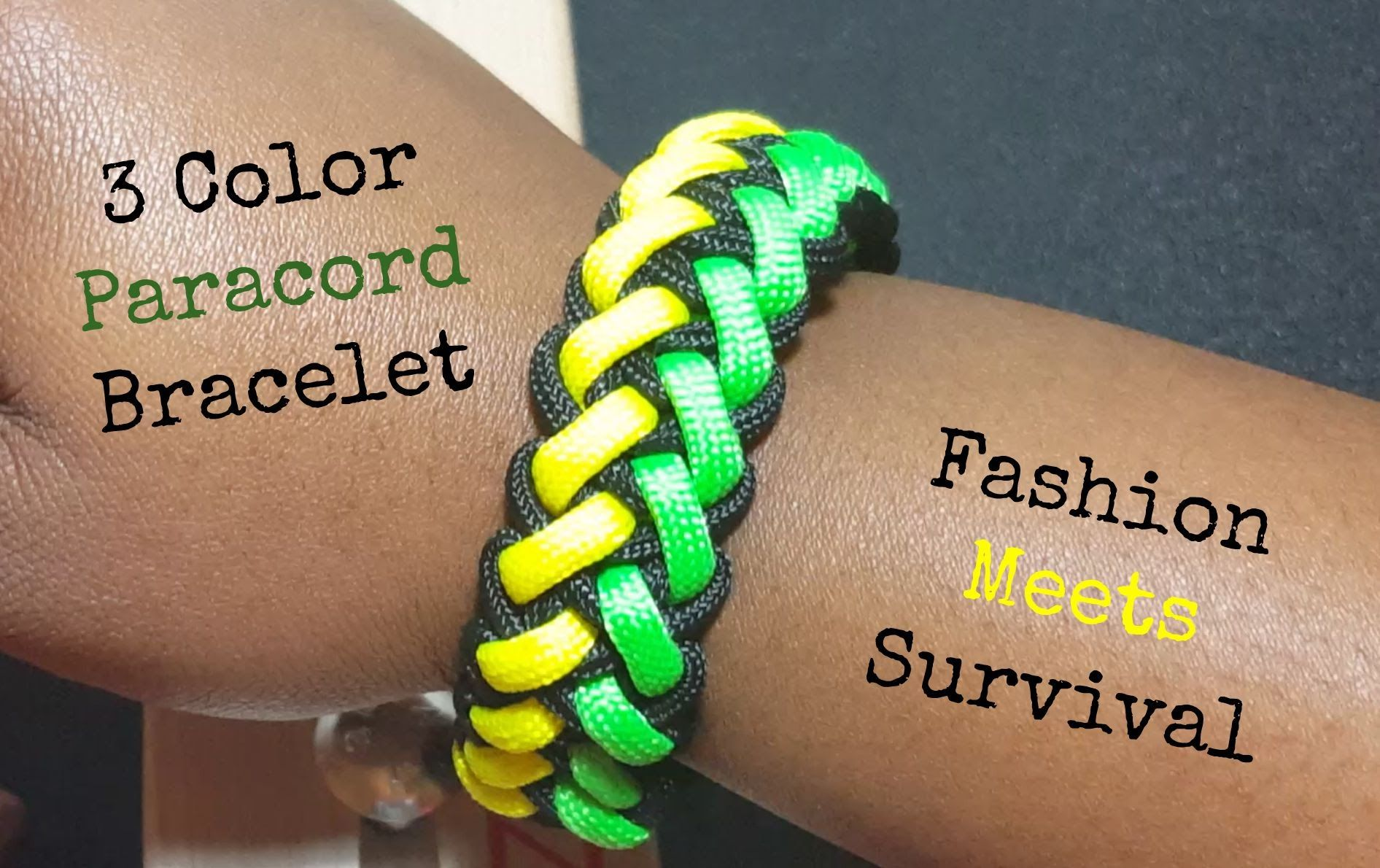 3 Color Paracord Bracelet Jamaican Colors With Images