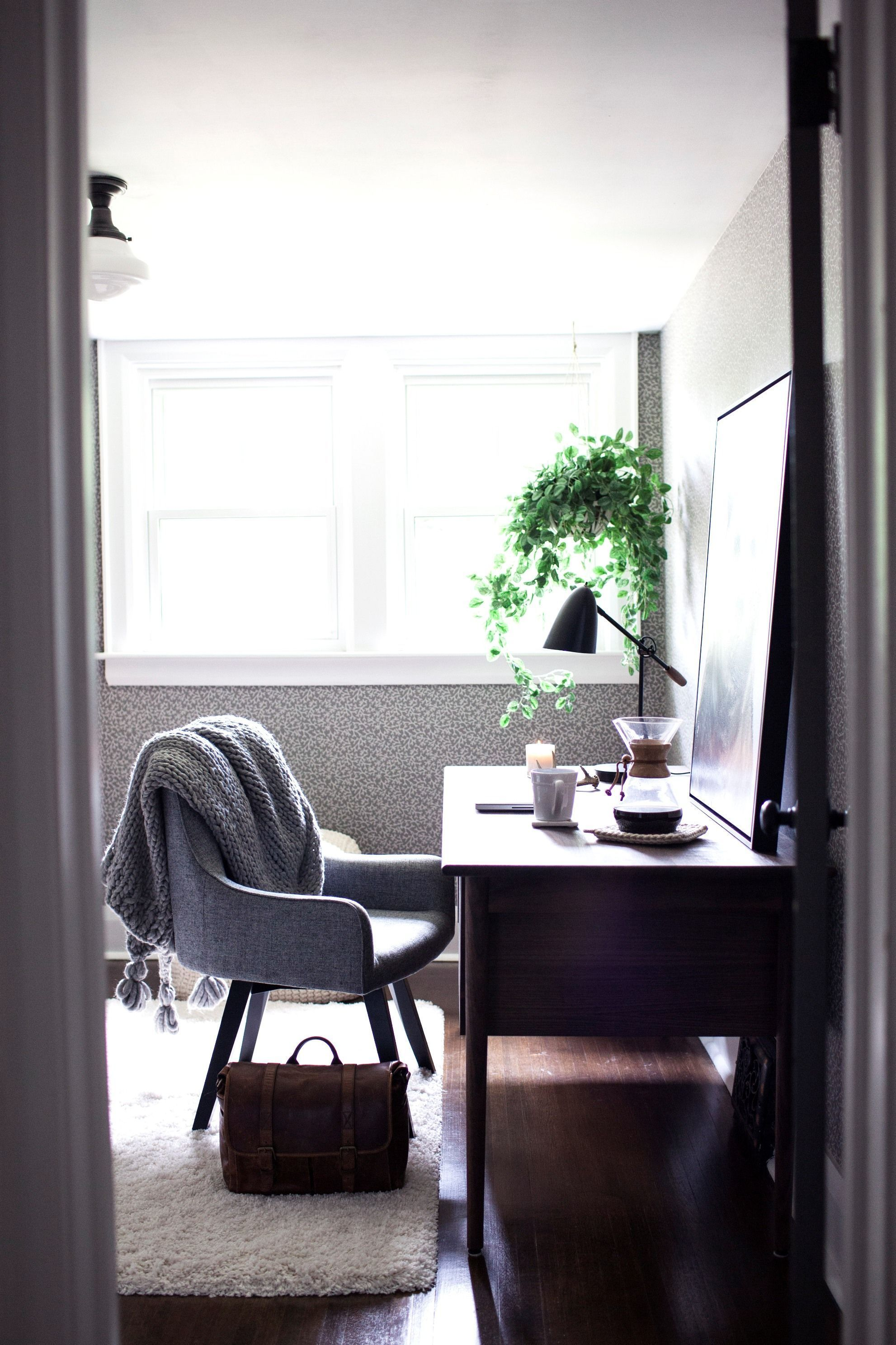 Desk under window ideas  hygge ideas for the home office  storage drawers desks and crates