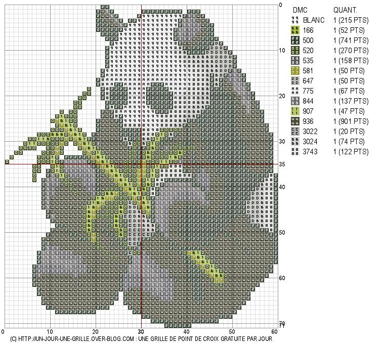 Panda stitch pattern point de croix panda point de croix - Broderie point compte grille gratuite ...