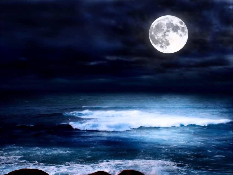 Sea At Night Beautiful Moon Water Reflections Ocean Wallpaper Hd wallpaper sea moon water reflection