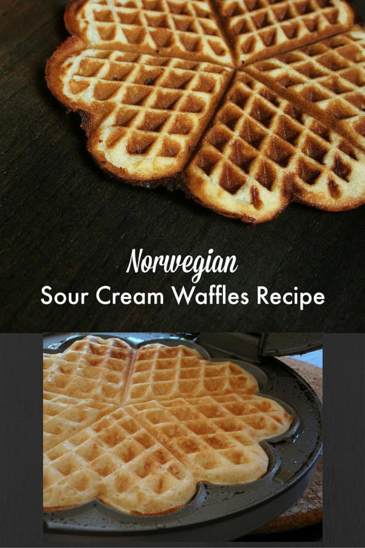 Best Brunch Ever Norwegian Sour Cream Waffles Recipe Waffle Recipes Norwegian Cuisine Waffles