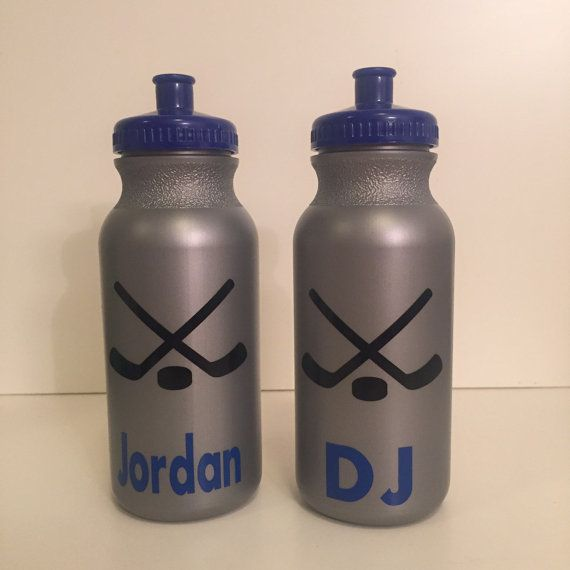 Personalized Kids Party Favor Hockey Fire Trucks Roller Skating Super Hero Water Bottles Personalize With The Chil Sport Bottle Bottle Sports Party Favors