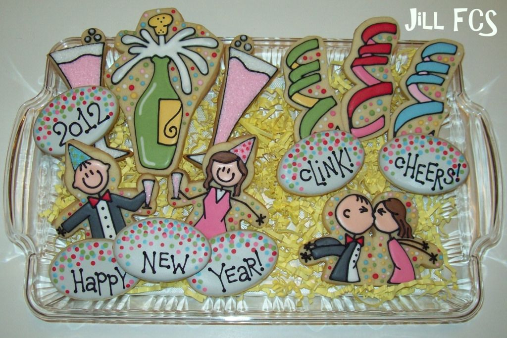Happy New Year! | New years cookies, Christmas cookie jars ...