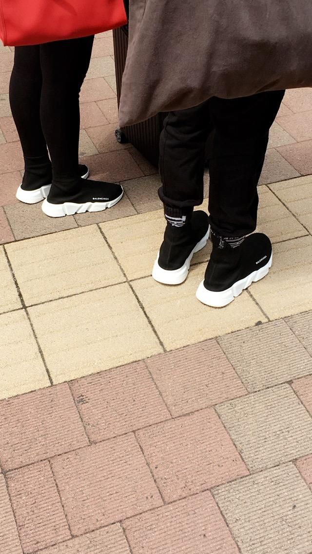 452cfe4fbdfb His and Hers Balenciaga Speed Trainers spotted in Tokyo