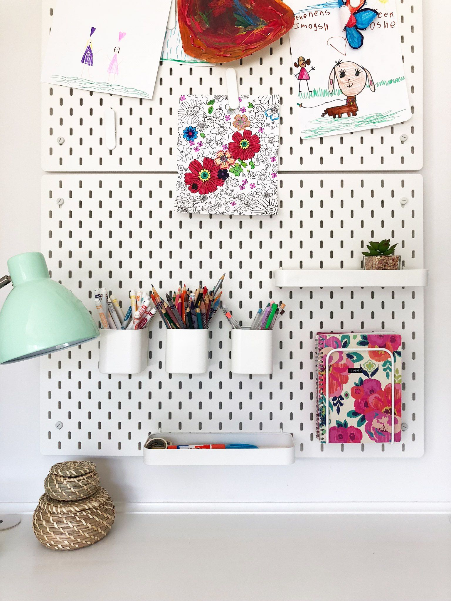 How We Organized Our Kids Messy Desks Using Ikea Products Ikea Kids Room Ikea Kids Kids Desk Organization