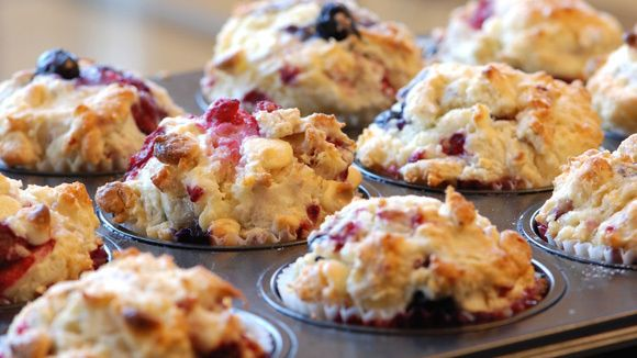 Strawberry-Blueberry Muffins - Grandparents.com