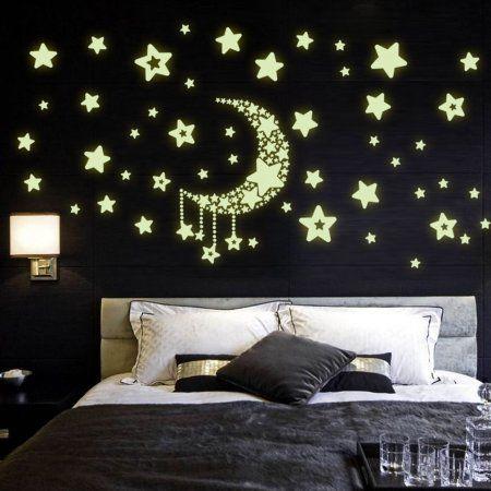 free shipping. buy diy night light glow in the dark moon stars wall