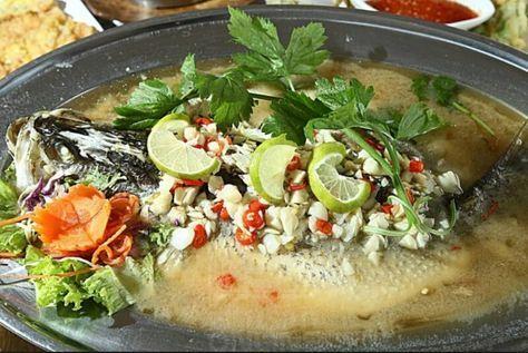 Sharing My Ceritera Resepi Siakap Stim Limau Ala Thai Prik Kee Noo Asian Recipes Recipes Malaysian Food