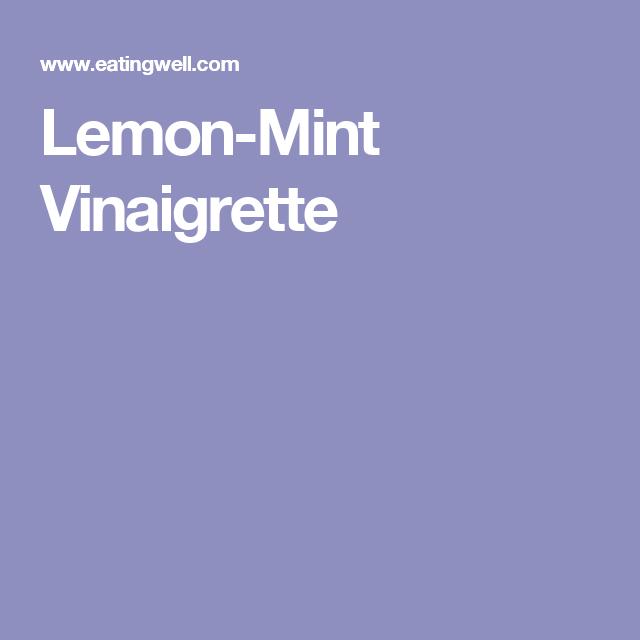 Lemon-Mint Vinaigrette