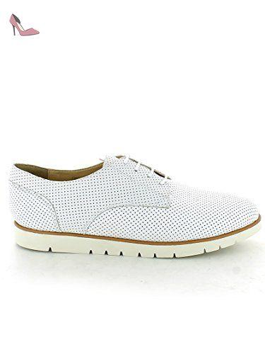 Geox , Chaussures de ville à lacets pour femme - blanc - Bianco, 35 EU
