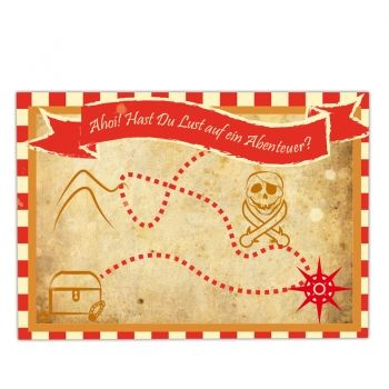 Einladungskarten Set Schatzkarte   Perfekt Für Die #Piratenparty Von  #MyPaperSet #Einladungskarte #Kindergeburtstag #Schatzkarte