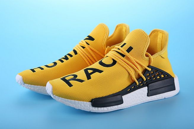 6e6297f1cbb Genuine Pharrell Williams X adidas NMD HUMAN RACE Yellow Black On Line