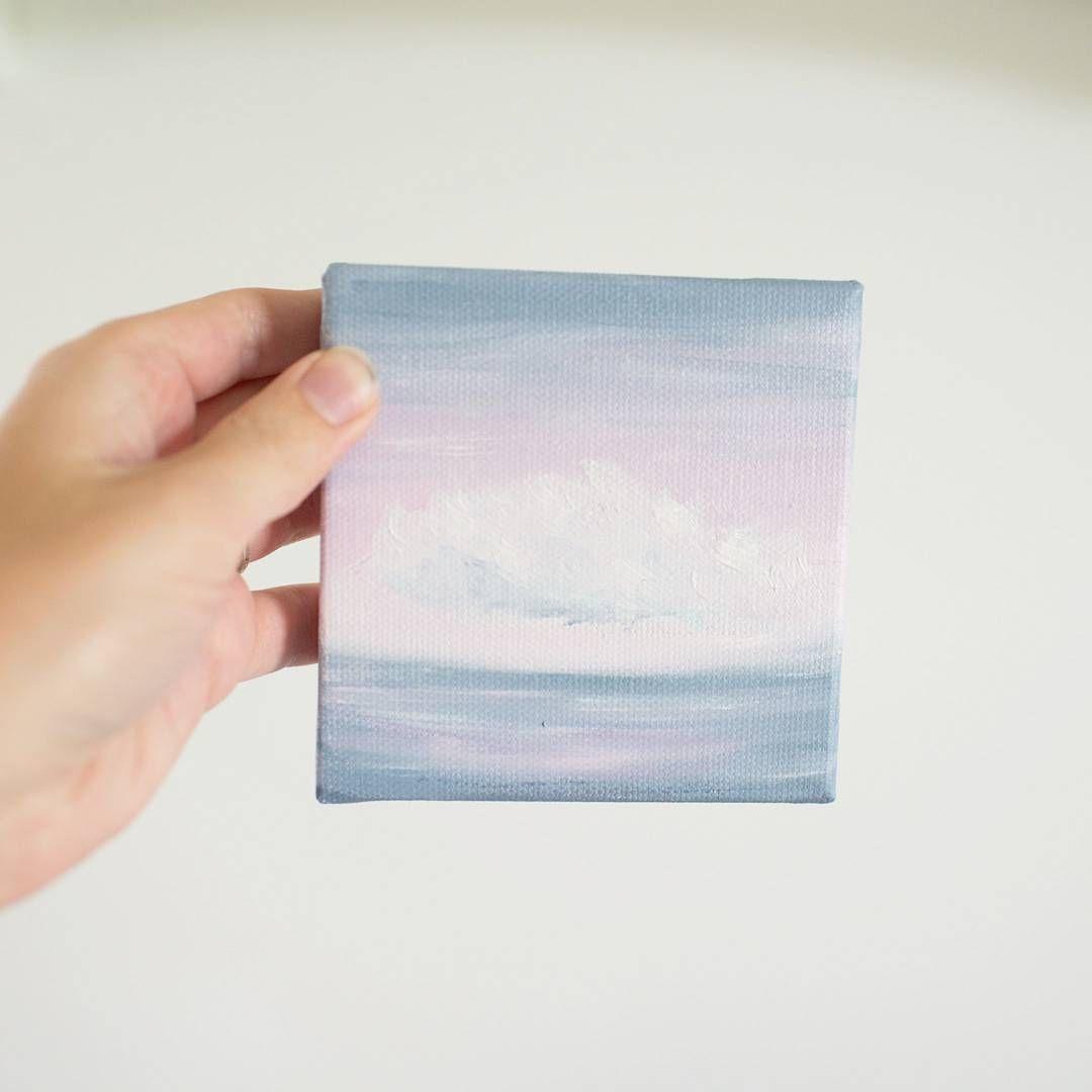 Cute Mini Cloud Oil Painting