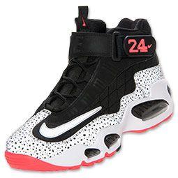 best sneakers 64baf f39b3 Men s Nike Air Griffey Max 1 Training Shoes   FinishLine.com   Black Metallic  Silver White Atomic Red