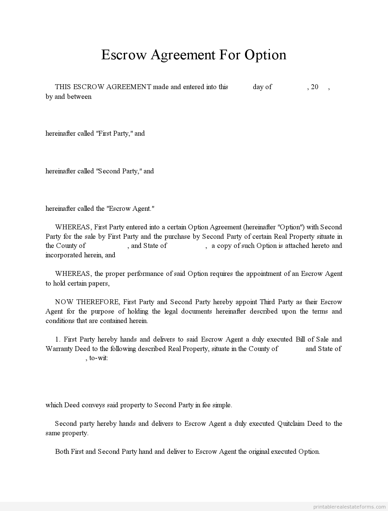 Escrow Letter Sample Howtoviews