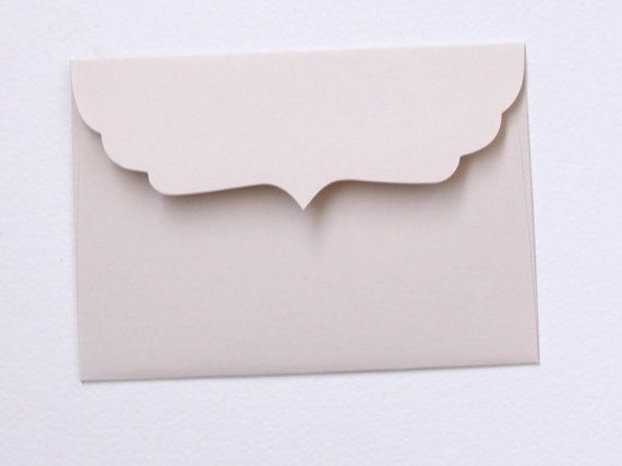 A7 Oat / Beige Cupid's Bow Envelopes by NeoReverie on Etsy, $29.24