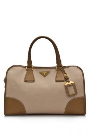 Prada Canapa   Saffiano Shopping Bag