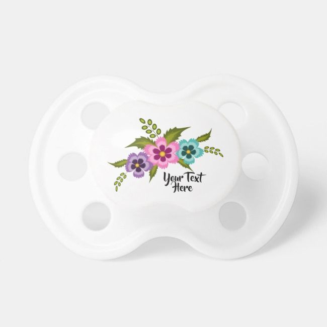 Colorful Flowers Pacifier