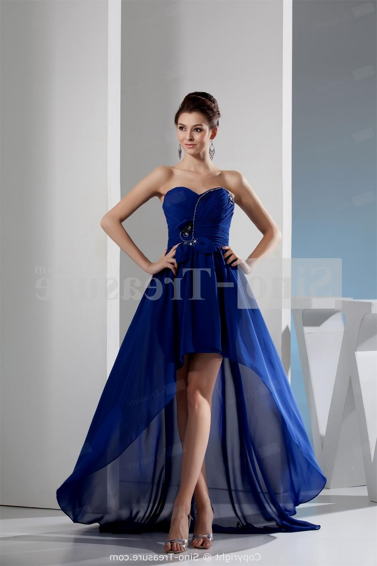 Glamour Royal Blue Short A-line Cocktail Dress with Strapless Neck ...