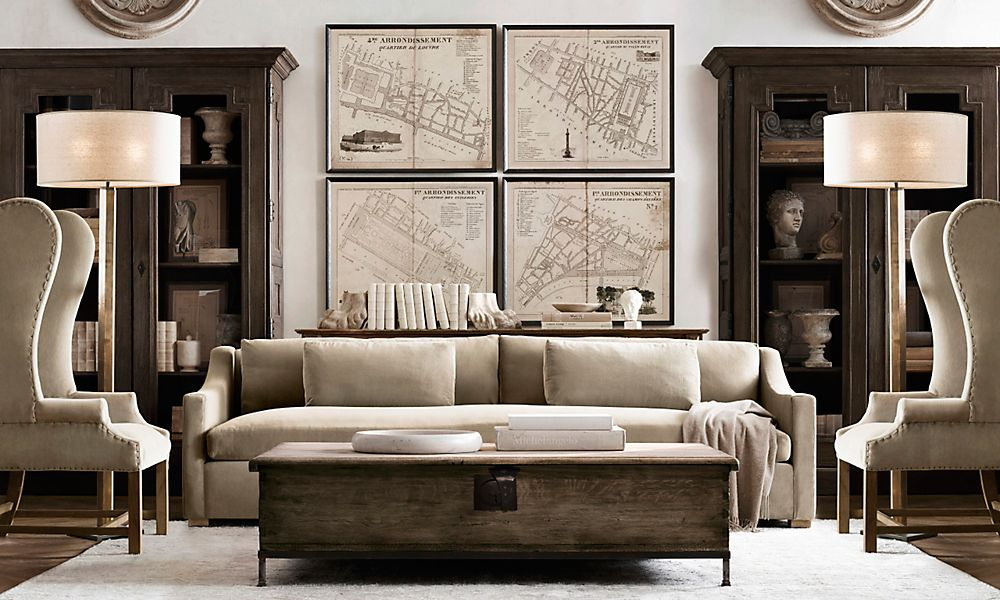 20 Amazing Living Rooms Inspired by Restoration Hardware #restorationhardware