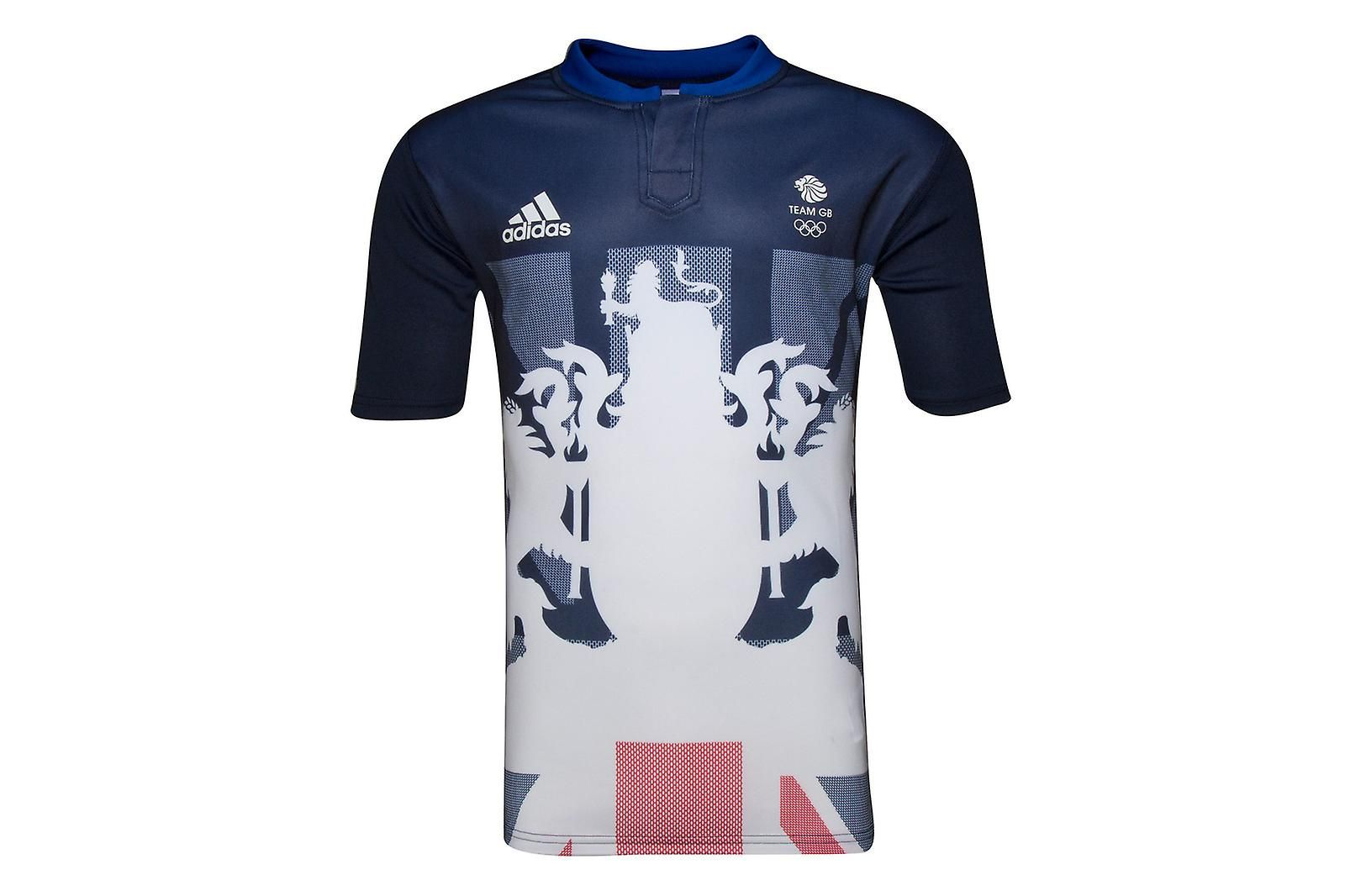 adidas Team GB 2016 Olympics Alternate S/S Rugby Shirt