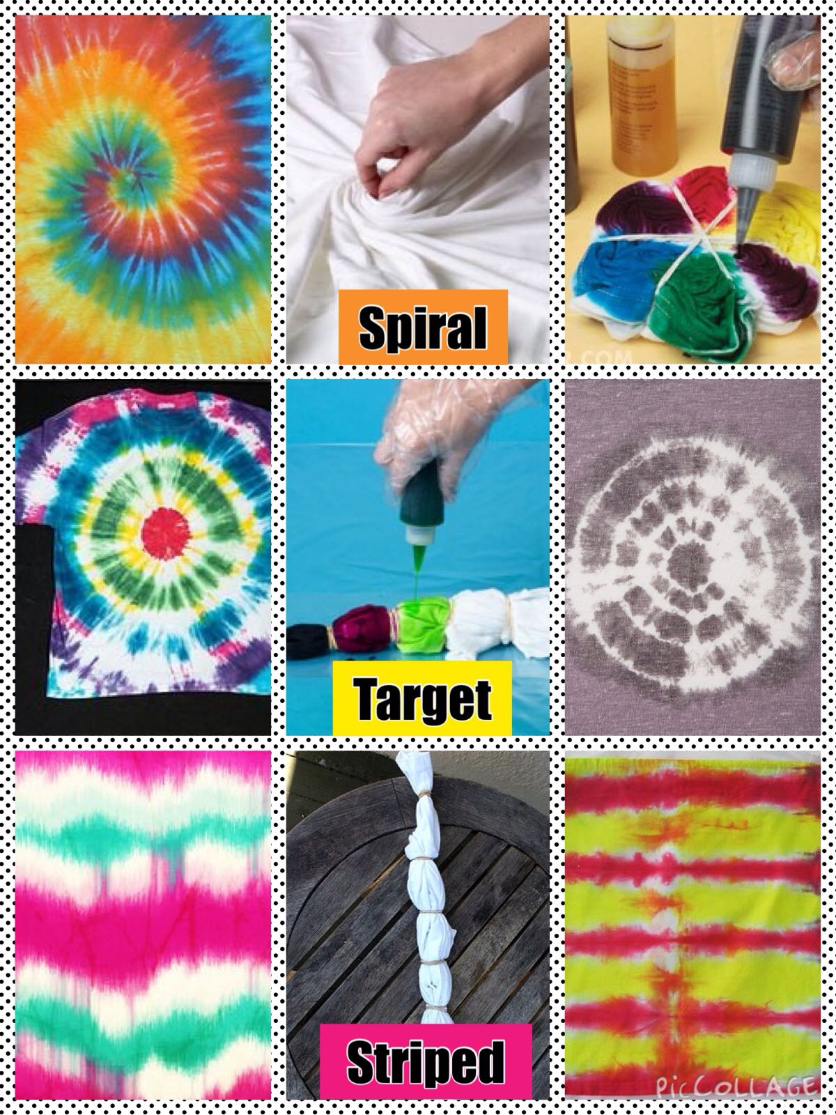 tie dye techniques for the kids pinterest n hen stoff f rben und farben. Black Bedroom Furniture Sets. Home Design Ideas