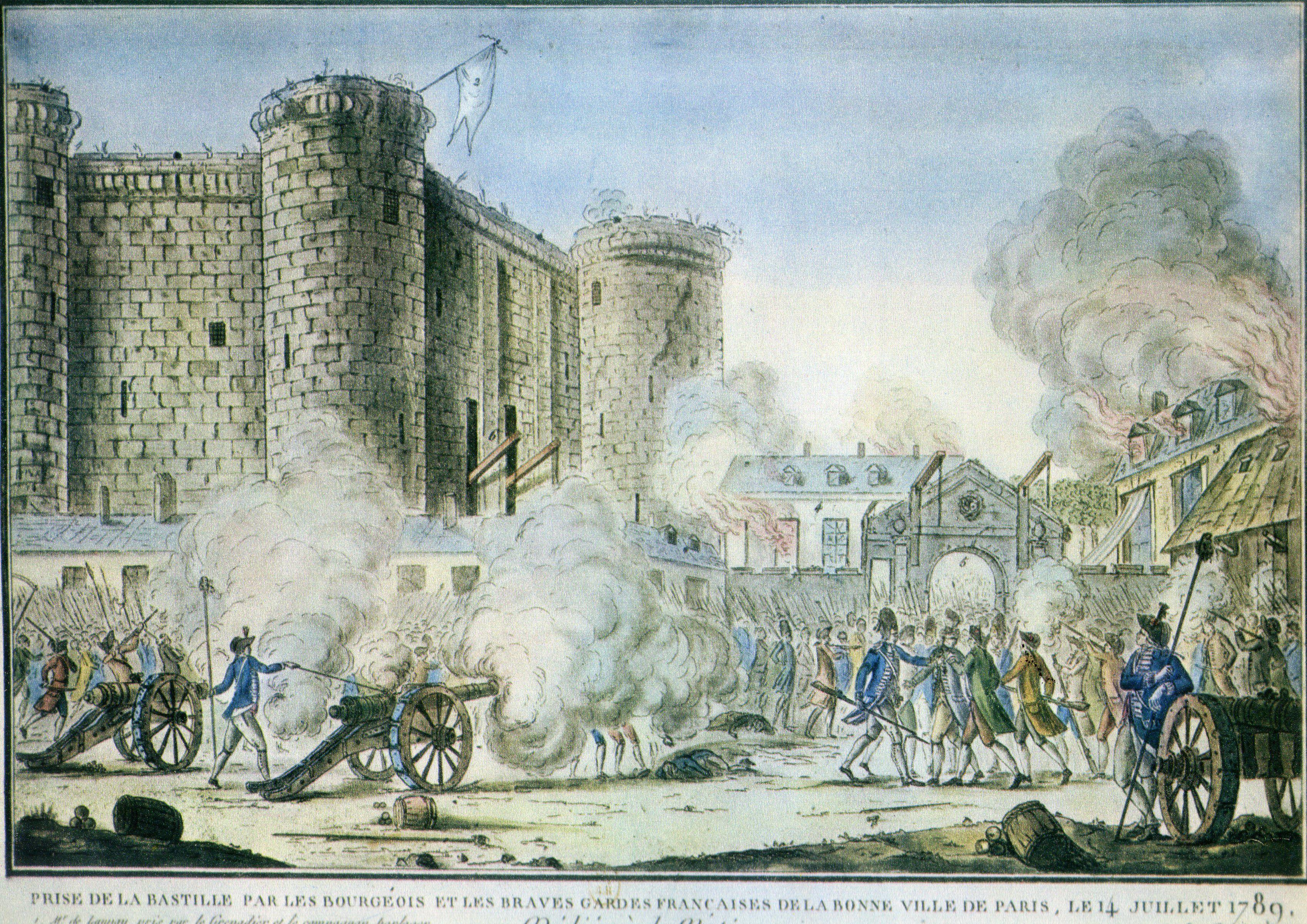 La Prise De La Bastille 14 Juillet 1789 Le 14 Juillet 1789 La Bastille Est Prise D Assaut Par Les Parisiens De Ce Jour Date La Fin De L Ancien Regime Õランス革命